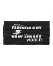 JUST A FLORIDA GUY IN A NEW JERSEY WORLD Cloth face mask thumbnail