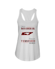 JUST A NORTH CAROLINA GIRL IN A TENNESSEE WORLD Ladies Flowy Tank thumbnail