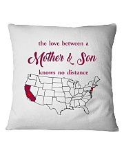 CALIFORNIA NEW JERSEY THE LOVE MOTHER AND SON Square Pillowcase thumbnail