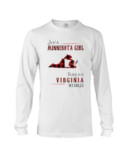 JUST A MINNESOTA GIRL IN A VIRGINIA WORLD Long Sleeve Tee thumbnail