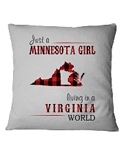 JUST A MINNESOTA GIRL IN A VIRGINIA WORLD Square Pillowcase thumbnail