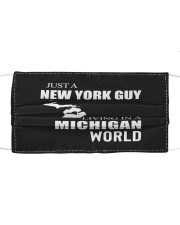 JUST A NEW YORK GUY IN A MICHIGAN WORLD Cloth face mask thumbnail