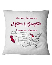 MICHIGAN CALIFORNIA THE LOVE MOTHER AND DAUGHTER Square Pillowcase thumbnail
