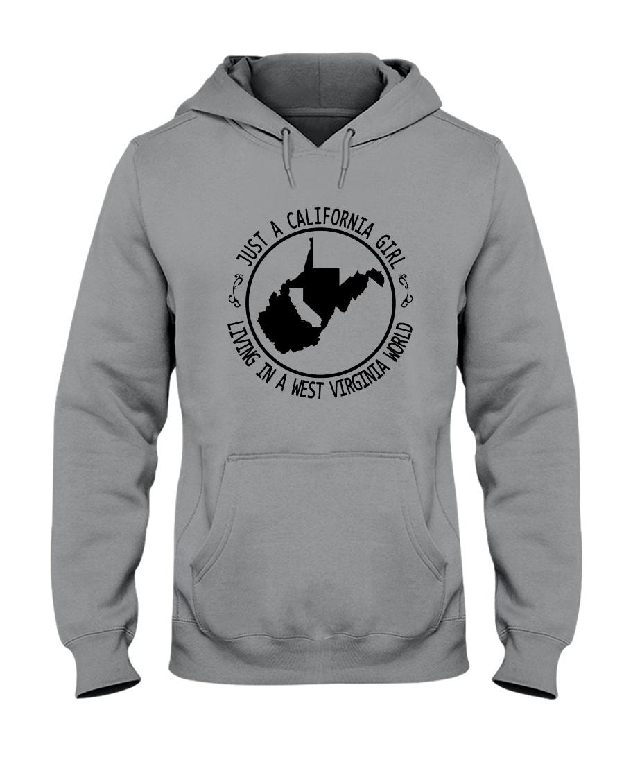 CALIFORNIA GIRL LIVING IN WEST VIRGINIA WORLD Hooded Sweatshirt