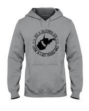 CALIFORNIA GIRL LIVING IN WEST VIRGINIA WORLD Hooded Sweatshirt front