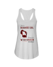 JUST A MISSOURI GIRL IN A WISCONSIN WORLD Ladies Flowy Tank thumbnail
