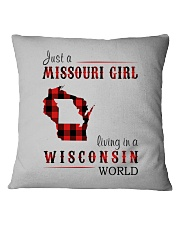 JUST A MISSOURI GIRL IN A WISCONSIN WORLD Square Pillowcase thumbnail