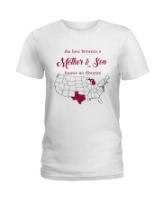 TEXAS MICHIGAN THE LOVE MOTHER AND SON Ladies T-Shirt thumbnail
