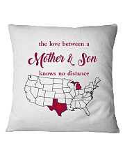 TEXAS MICHIGAN THE LOVE MOTHER AND SON Square Pillowcase thumbnail
