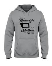JUST A KANSAS GIRL IN A MONTANA WORLD Hooded Sweatshirt thumbnail