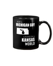 JUST A MICHIGAN GUY IN A KANSAS WORLD Mug thumbnail