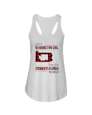 JUST A WASHINGTON GIRL IN A PENNSYLVANIA WORLD Ladies Flowy Tank thumbnail