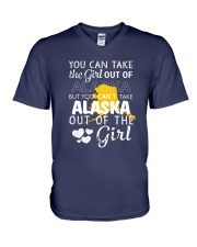 YOU CAN'T TAKE ALASKA OUT OF THE GIRL V-Neck T-Shirt thumbnail