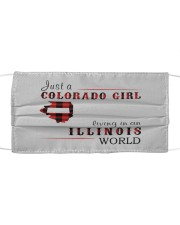 JUST A COLORADO GIRL IN AN ILLINOIS WORLD Cloth face mask thumbnail