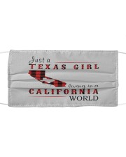 JUST A TEXAS GIRL IN A CALIFORNIA WORLD Cloth face mask thumbnail