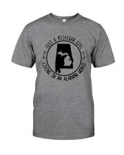 MICHIGAN GIRL LIVING IN ALABAMA WORLD Classic T-Shirt thumbnail