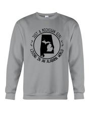 MICHIGAN GIRL LIVING IN ALABAMA WORLD Crewneck Sweatshirt thumbnail
