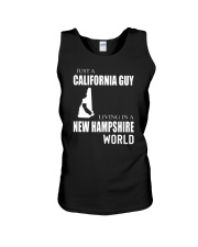 JUST A CALIFORNIA GUY IN A NEW HAMPSHIRE WORLD Unisex Tank thumbnail