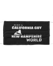 JUST A CALIFORNIA GUY IN A NEW HAMPSHIRE WORLD Cloth face mask thumbnail