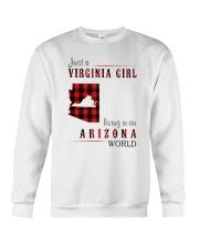 JUST A VIRGINIA GIRL IN AN ARIZONA WORLD Crewneck Sweatshirt thumbnail