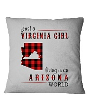JUST A VIRGINIA GIRL IN AN ARIZONA WORLD Square Pillowcase thumbnail