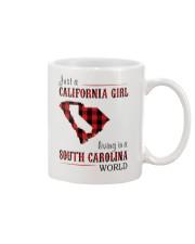 JUST A CALIFORNIA GIRL IN A SOUTH CAROLINA WORLD Mug thumbnail