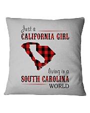 JUST A CALIFORNIA GIRL IN A SOUTH CAROLINA WORLD Square Pillowcase thumbnail
