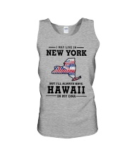 LIVE IN NEW YORK BUT I'LL HAVE HAWAII IN MY DNA Unisex Tank thumbnail
