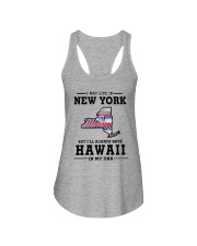 LIVE IN NEW YORK BUT I'LL HAVE HAWAII IN MY DNA Ladies Flowy Tank thumbnail