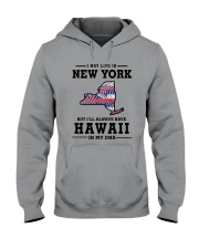 LIVE IN NEW YORK BUT I'LL HAVE HAWAII IN MY DNA Hooded Sweatshirt thumbnail