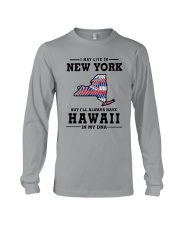 LIVE IN NEW YORK BUT I'LL HAVE HAWAII IN MY DNA Long Sleeve Tee thumbnail