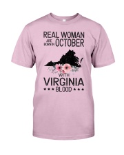 REAL WOMAN ARE BORN IN OCTOBER WITH VIRGINIA BLOOD Classic T-Shirt thumbnail