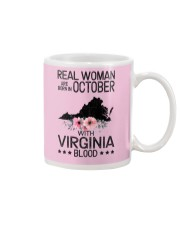 REAL WOMAN ARE BORN IN OCTOBER WITH VIRGINIA BLOOD Mug thumbnail