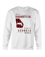 JUST A MASSACHUSETTS GIRL IN A GEORGIA WORLD Crewneck Sweatshirt thumbnail