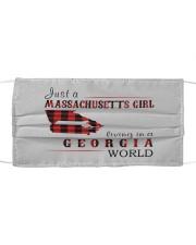 JUST A MASSACHUSETTS GIRL IN A GEORGIA WORLD Cloth face mask thumbnail