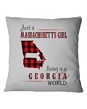 JUST A MASSACHUSETTS GIRL IN A GEORGIA WORLD Square Pillowcase thumbnail
