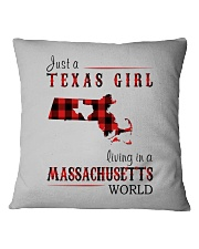 JUST A TEXAS GIRL IN A MASSACHUSETTS WORLD Square Pillowcase thumbnail