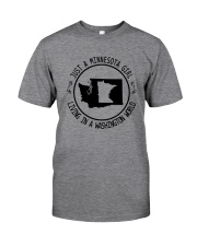 MINNESOTA GIRL LIVING IN WASHINGTON WORLD Classic T-Shirt thumbnail