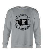 MINNESOTA GIRL LIVING IN WASHINGTON WORLD Crewneck Sweatshirt thumbnail