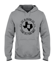 ARIZONA GIRL LIVING IN TEXAS WORLD Hooded Sweatshirt front