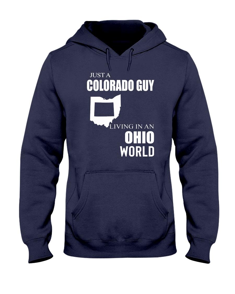 JUST A COLORADO GUY IN AN OHIO WORLD Hooded Sweatshirt