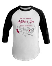 INDIANA CALIFORNIA THE LOVE MOTHER AND SON Baseball Tee thumbnail