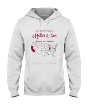 INDIANA CALIFORNIA THE LOVE MOTHER AND SON Hooded Sweatshirt thumbnail