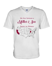 INDIANA CALIFORNIA THE LOVE MOTHER AND SON V-Neck T-Shirt thumbnail