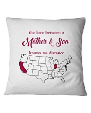 INDIANA CALIFORNIA THE LOVE MOTHER AND SON Square Pillowcase thumbnail