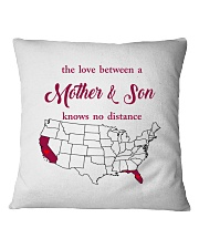 CALIFORNIA FLORIDA THE LOVE MOTHER AND SON Square Pillowcase thumbnail