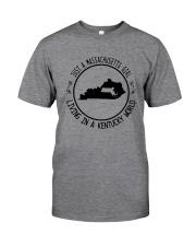 MASSACHUSETTS GIRL LIVING IN KENTUCKY WORLD Classic T-Shirt thumbnail