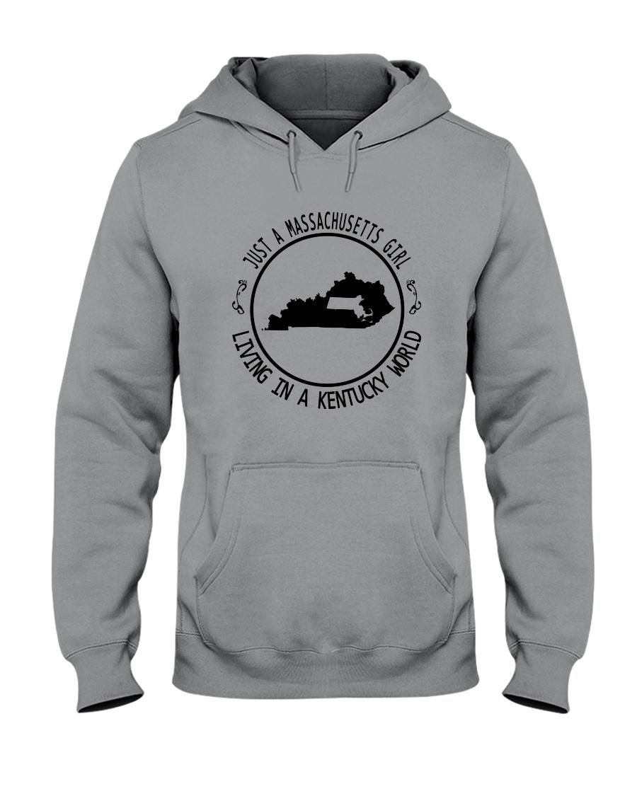MASSACHUSETTS GIRL LIVING IN KENTUCKY WORLD Hooded Sweatshirt