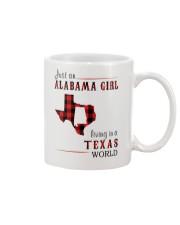 JUST AN ALABAMA GIRL IN A TEXAS WORLD Mug thumbnail