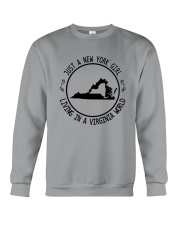 NEW YORK GIRL LIVING IN VIRGINIA WORLD Crewneck Sweatshirt thumbnail